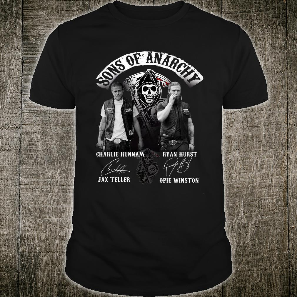 Sons Of Anarchy Charlie Hunnam Jax Teller Ryan Hurst Opie Winston Shirt