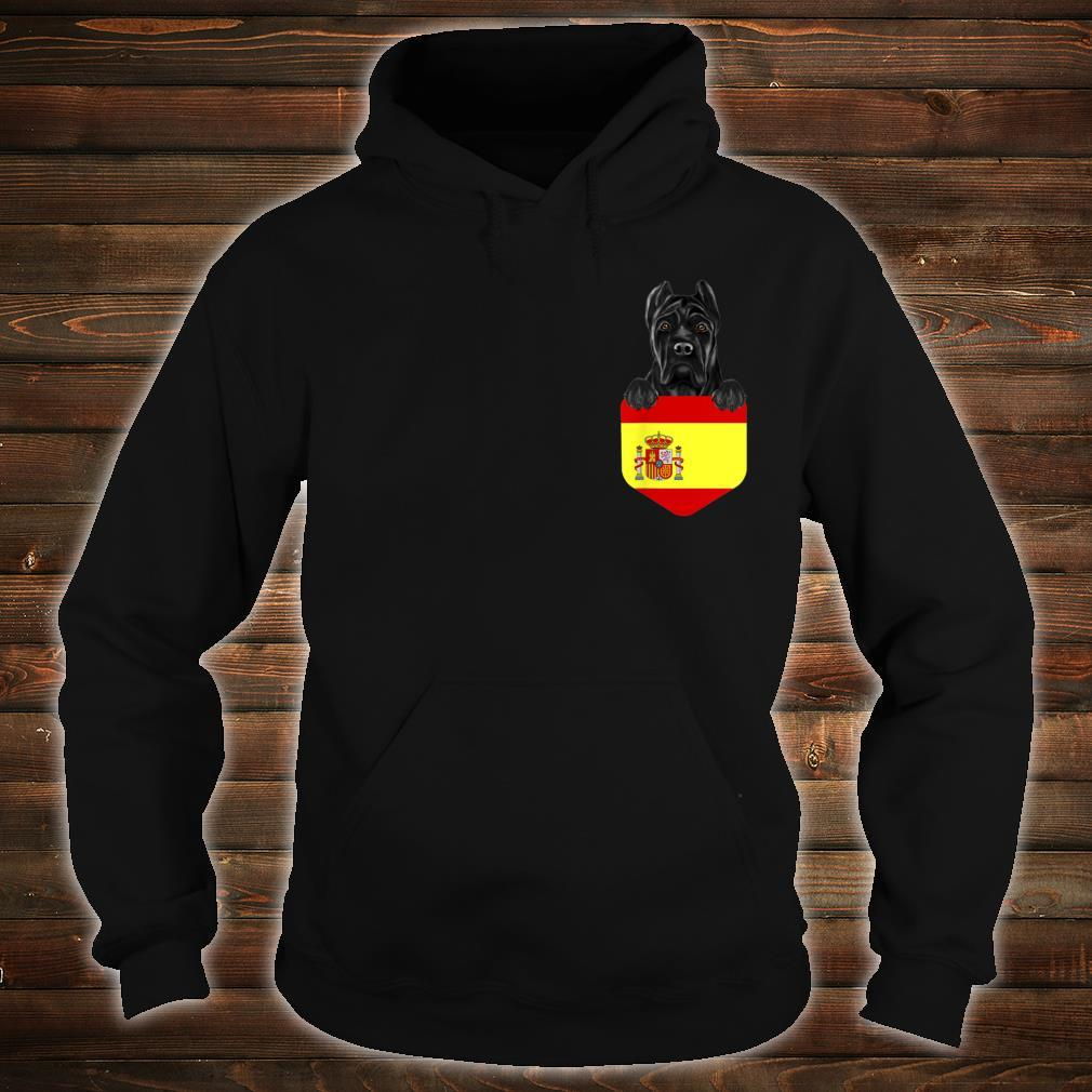 Spain Flag Cane Corso Dog In Pocket Shirt hoodie
