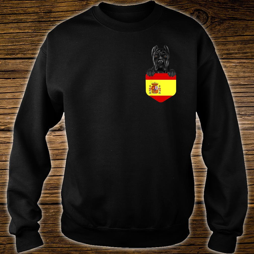 Spain Flag Cane Corso Dog In Pocket Shirt sweater