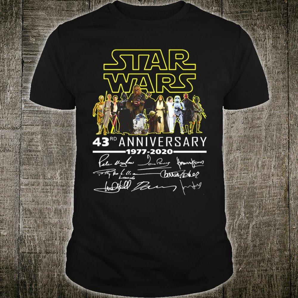 Star War 43rd anniversary 1977 2020 signatures shirt