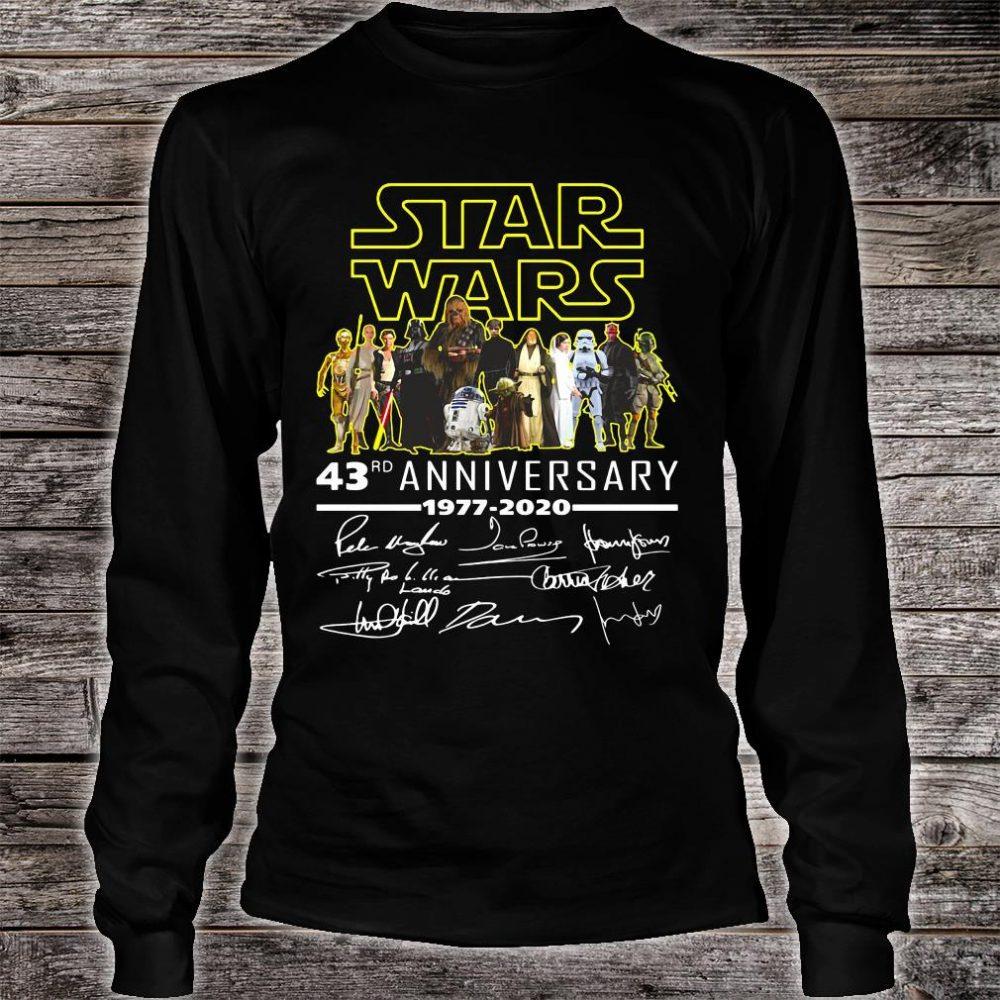 Star War 43rd anniversary 1977 2020 signatures shirt long sleeved