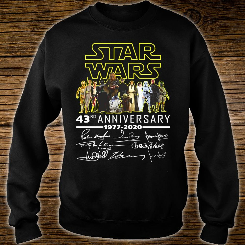Star War 43rd anniversary 1977 2020 signatures shirt sweater