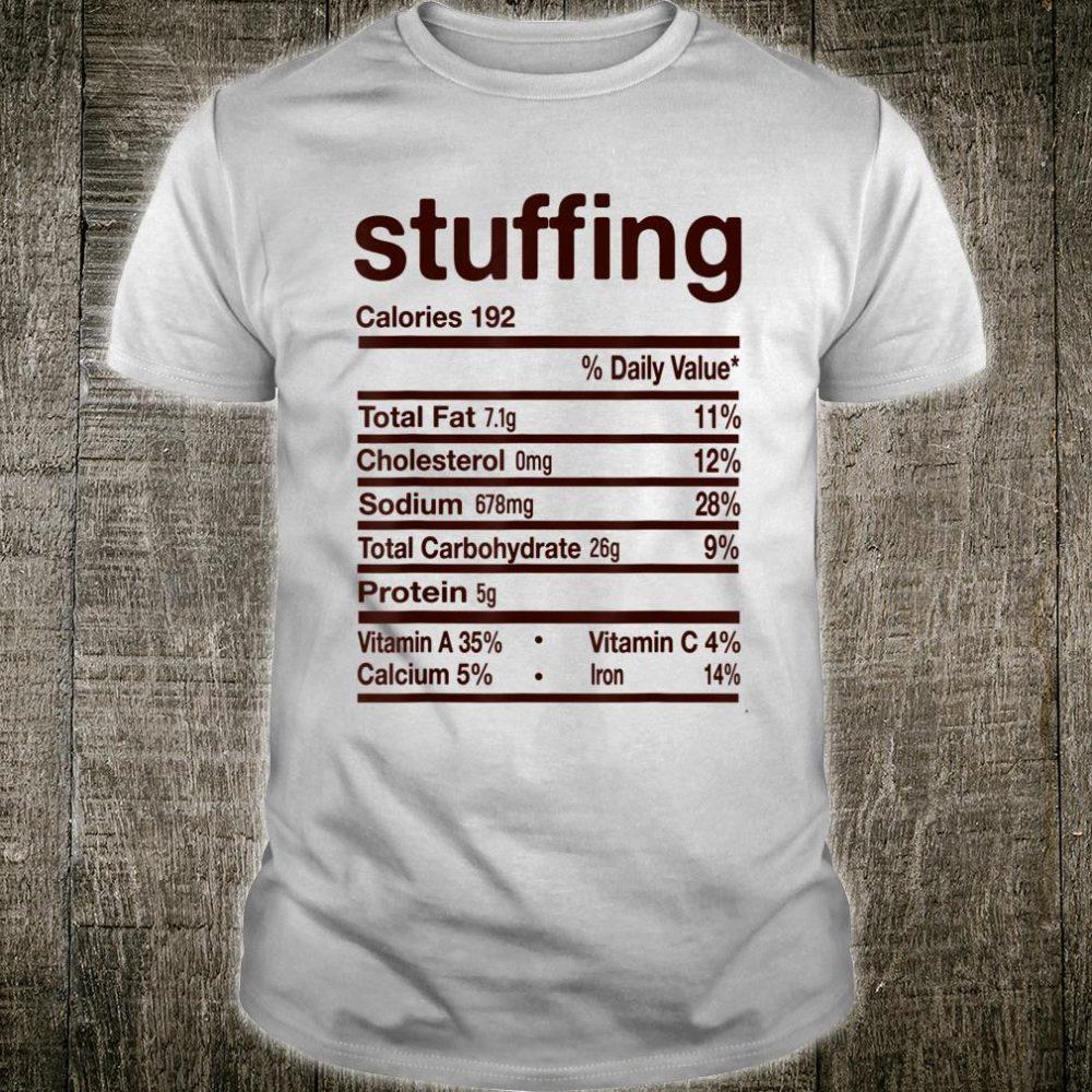 Stuffing Nutrition Thanksgiving Shirt