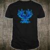 Style Phoenix Bird Devil Horns Blue Shirt