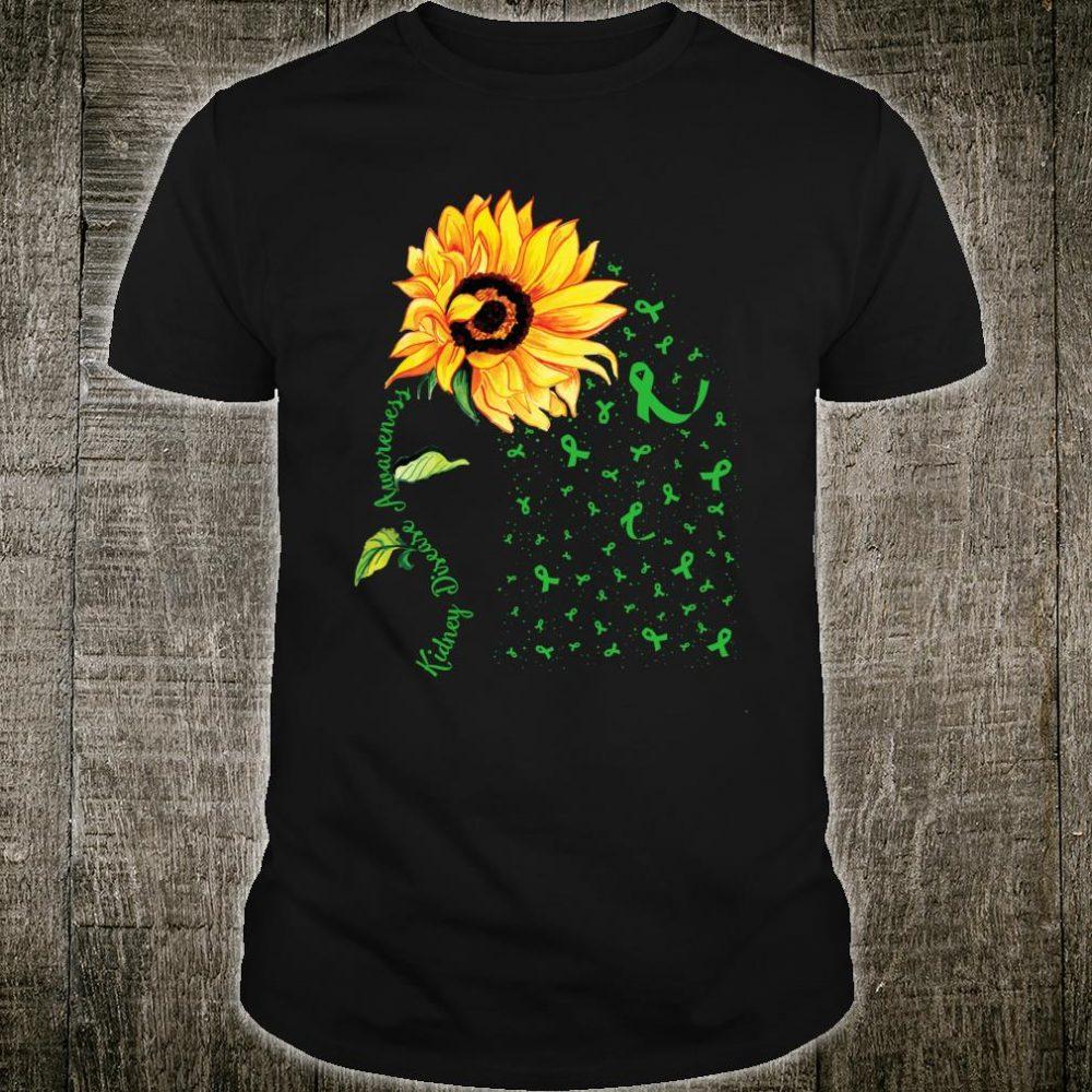 Sunflower Kidney disease Awareness Shirt