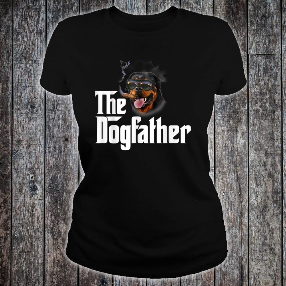 The Dogfather Rottweiler Shirt ladies tee