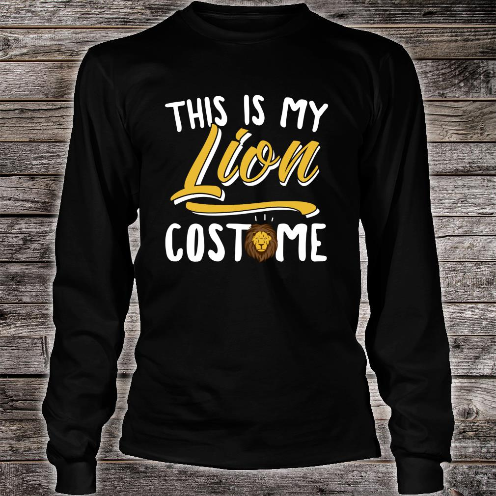 This Is My Lion Costume Cosplay Halloween Shirt Long sleeved
