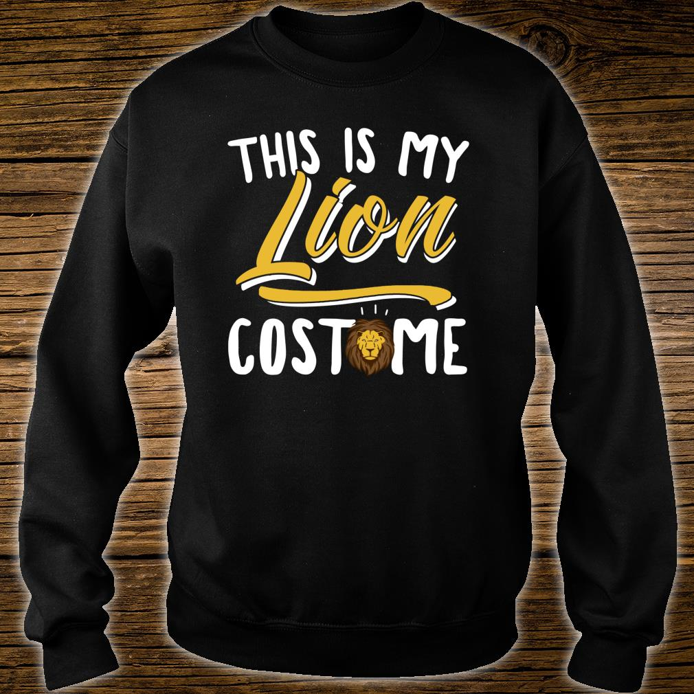 This Is My Lion Costume Cosplay Halloween Shirt sweater
