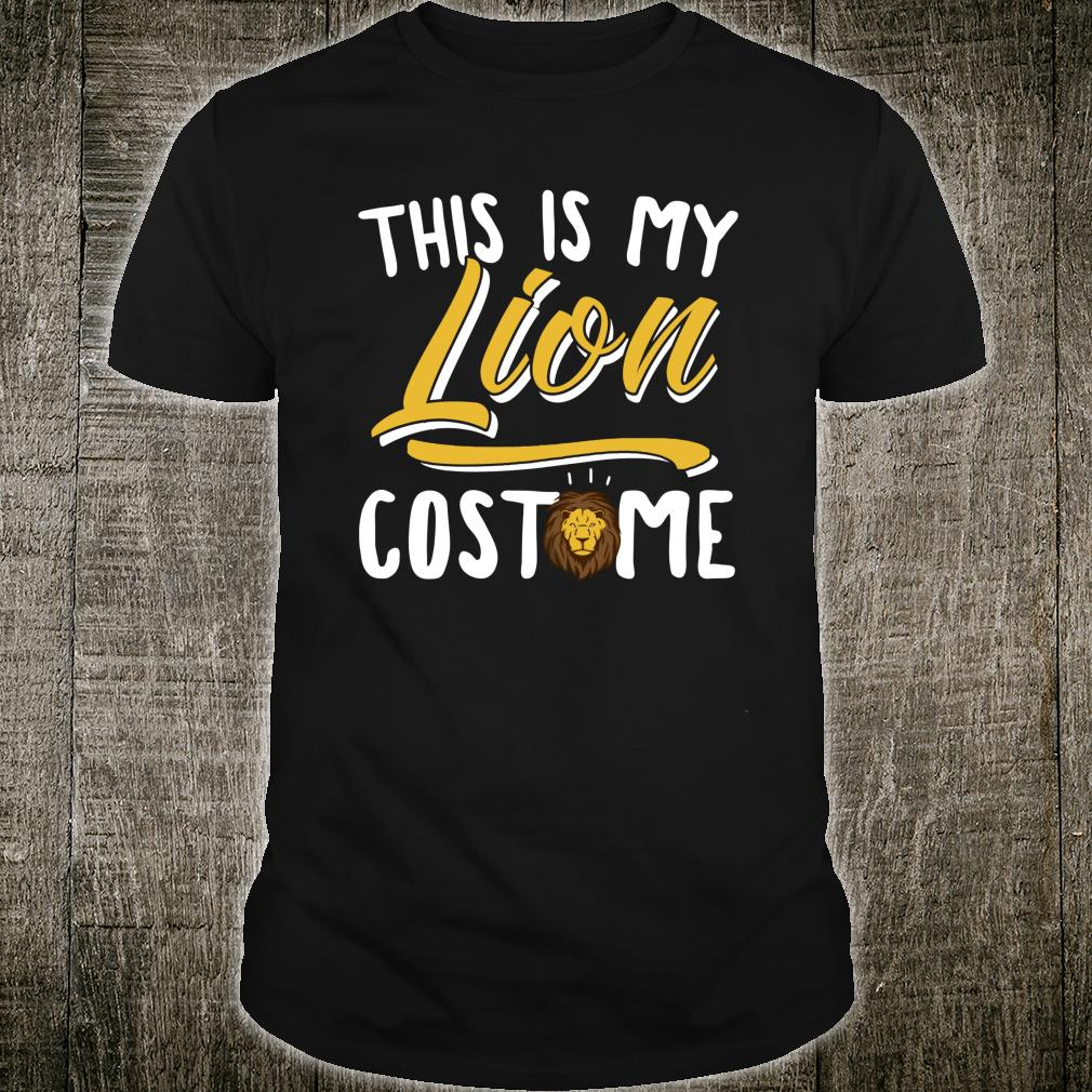 This Is My Lion Costume Cosplay Halloween Shirt