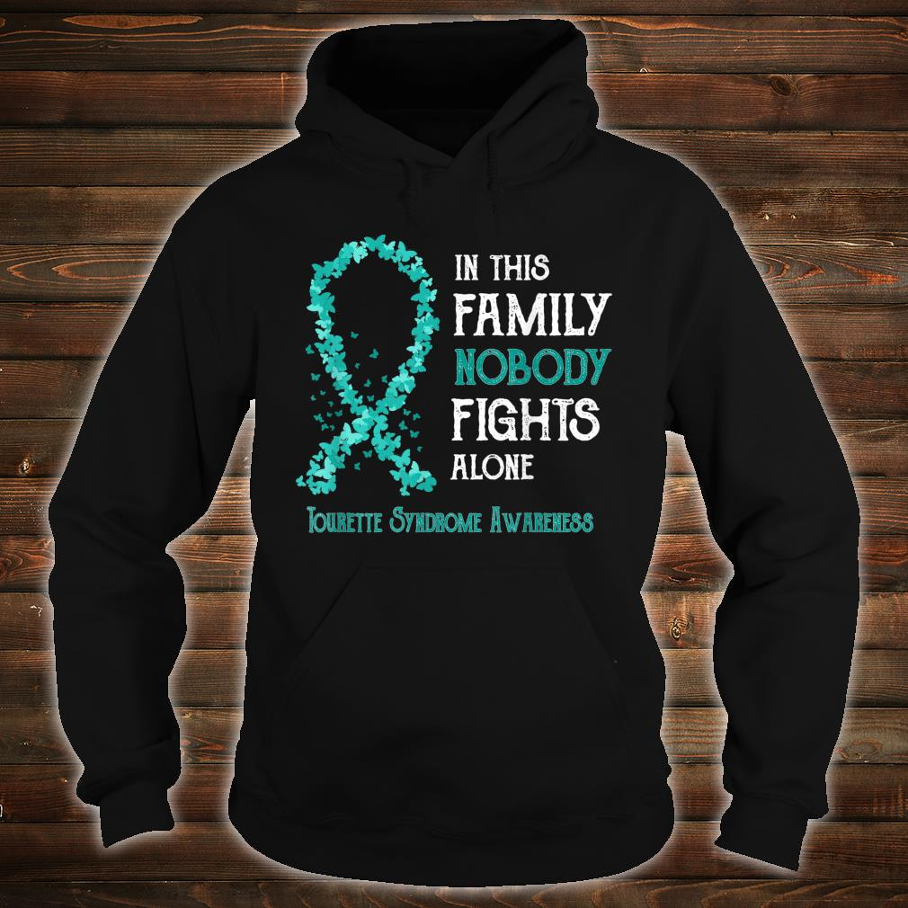 Tourette Syndrome Awareness Nobody Fights Alone Shirt hoodie
