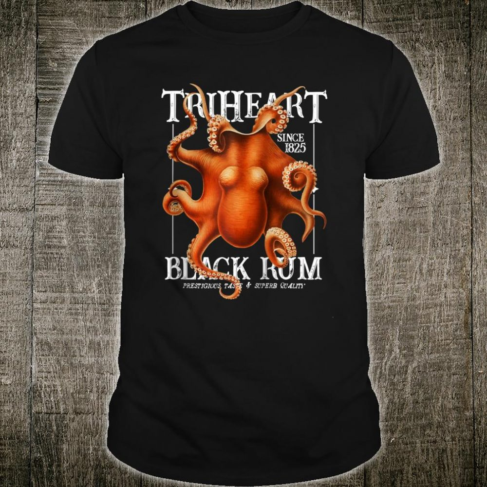 TriHeart Black Rum Octopus Shirt