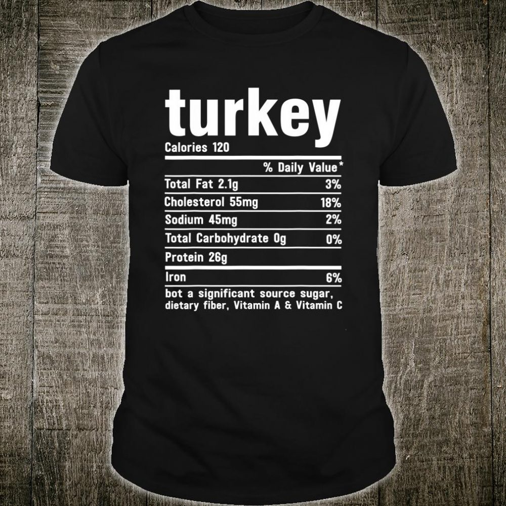 Turkey Funny Christmas Food Nutrition Facts Gift Xmas Pajama Shirt