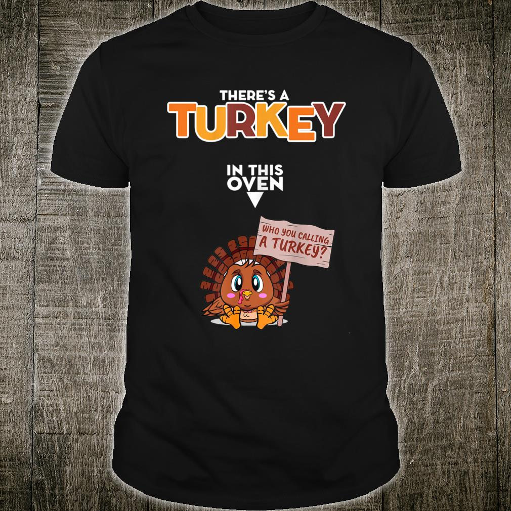 official turkey in oven thanksgiving pregnancy shirt