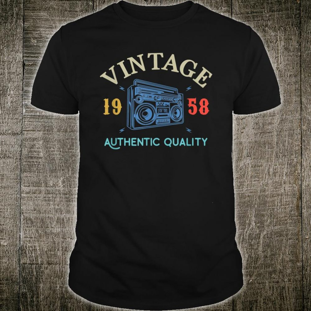 Vintage 62 Years Old 1958 Anniversary Shirt