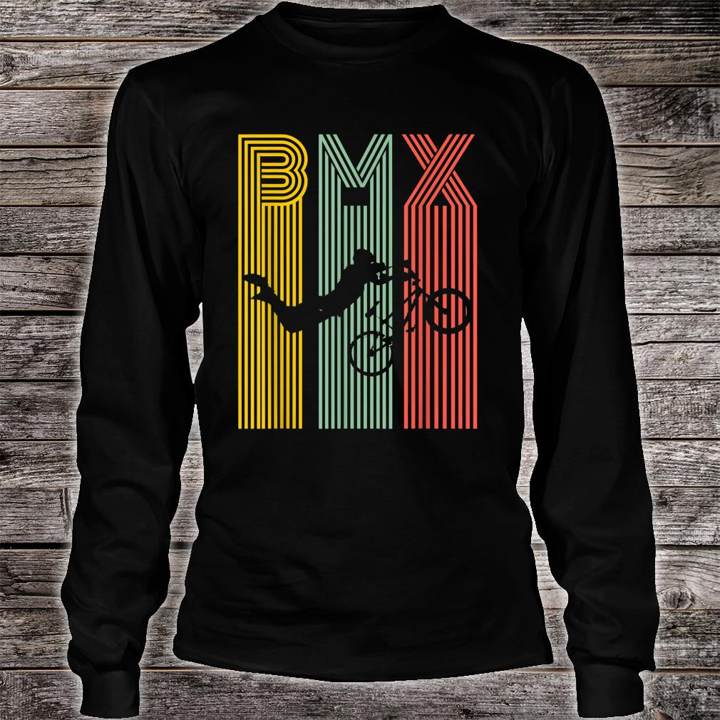 Vintage BMX Bike Bicycle Racing Stunt Shirt long sleeved