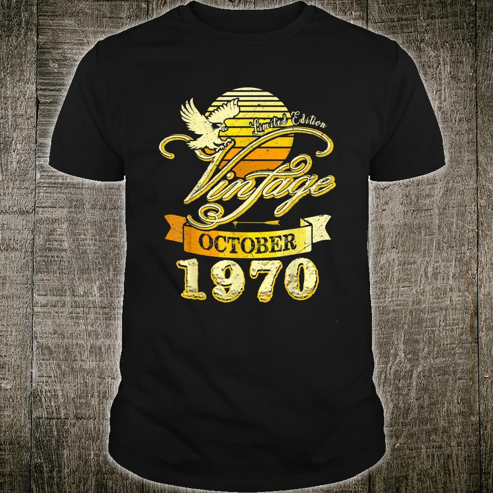 Vintage Eagle October 1970 50th Birthday Limited Edition Shirt