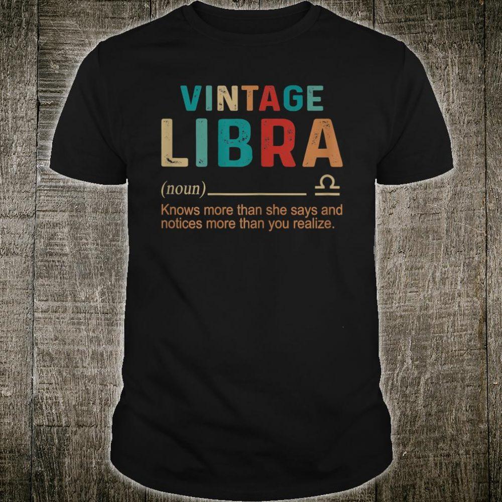 Vintage Libra Knows More than She Says Shirt