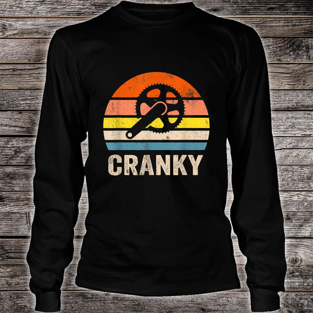 Vintage Sun funny Bicycle Cranky Shirt Long sleeved