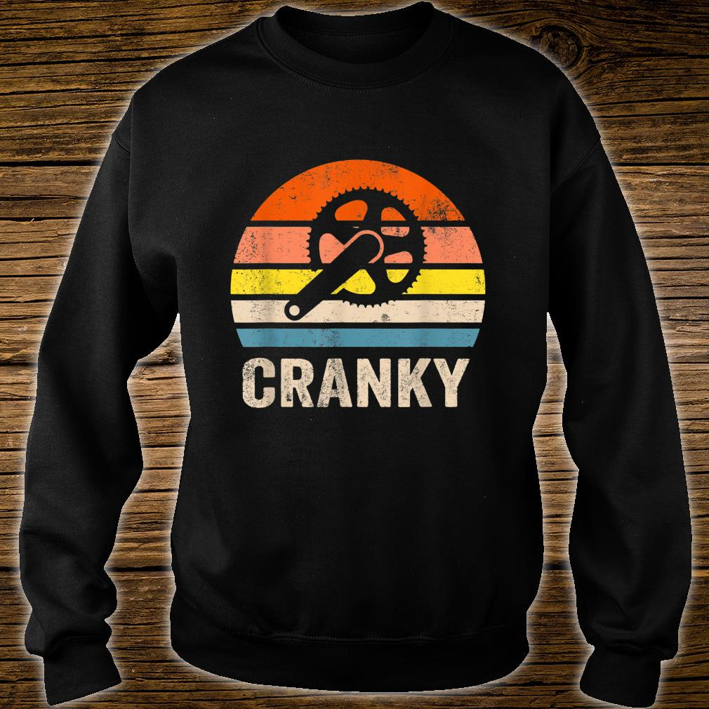 Vintage Sun funny Bicycle Cranky Shirt sweater