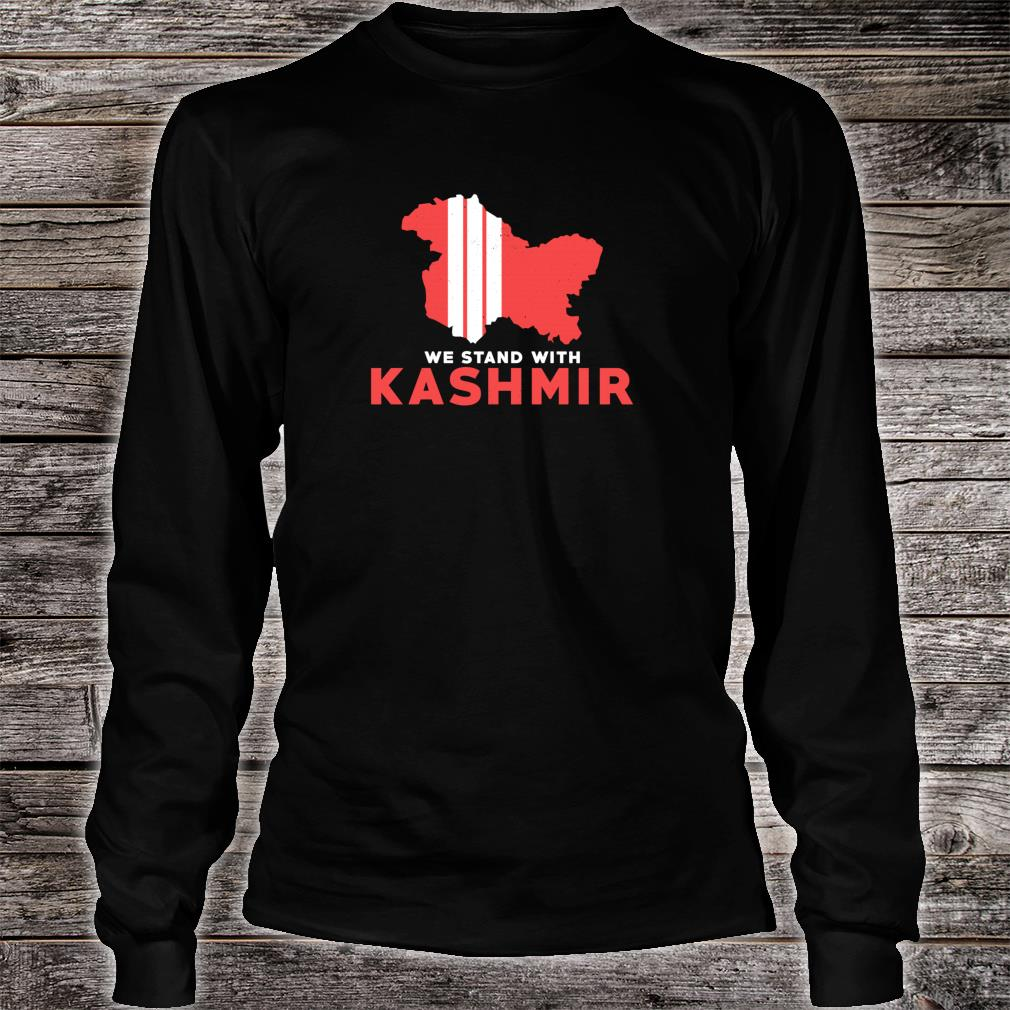 We Stand With Kashmir For Its Solidarity And Freedom Shirt Long sleeved