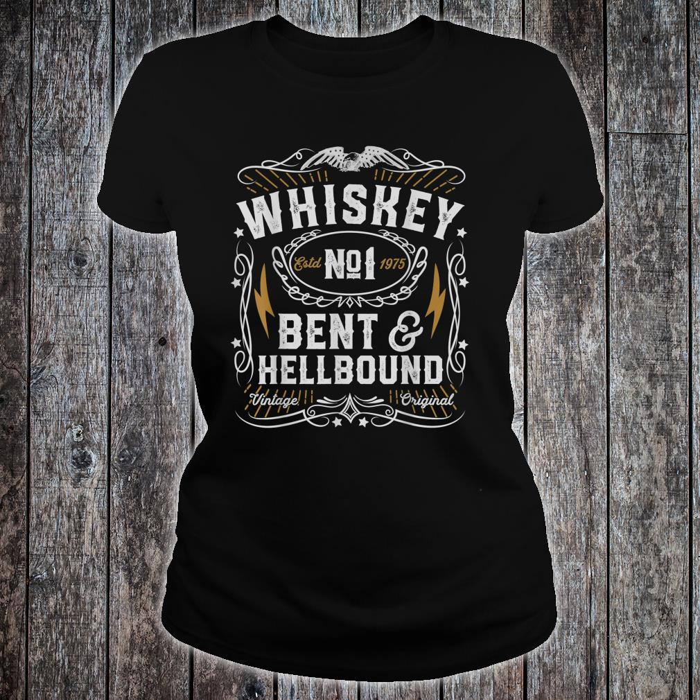 Whiskey Bent And Hellbound Country Music Biker Bourbon Shirt ladies tee