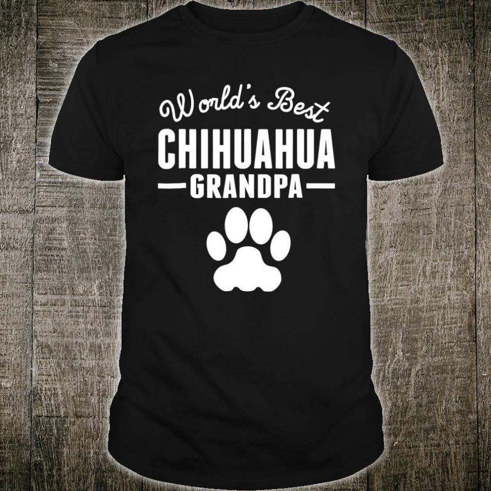World's Best Chihuahua Grandpa Shirt