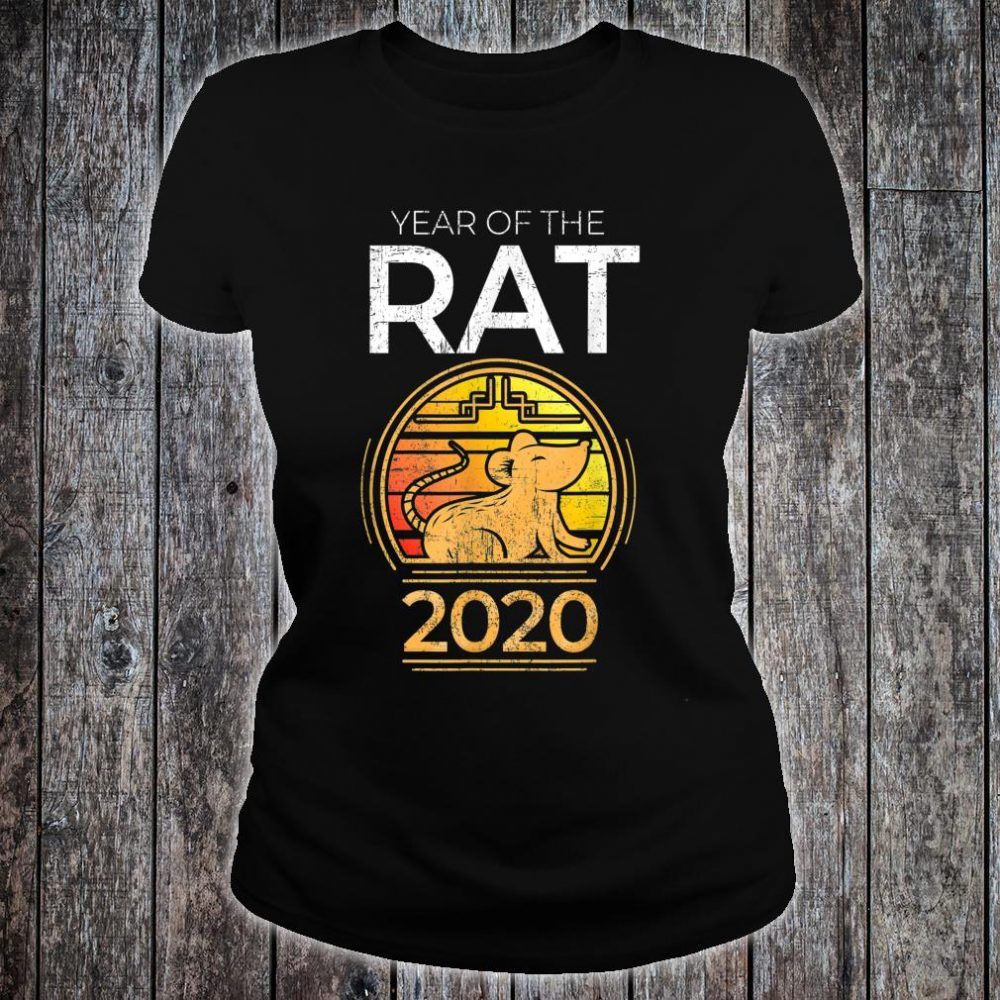 Year Of The Rat 2020 Chinese New Year Zodiac Symbol Shirt ladies tee
