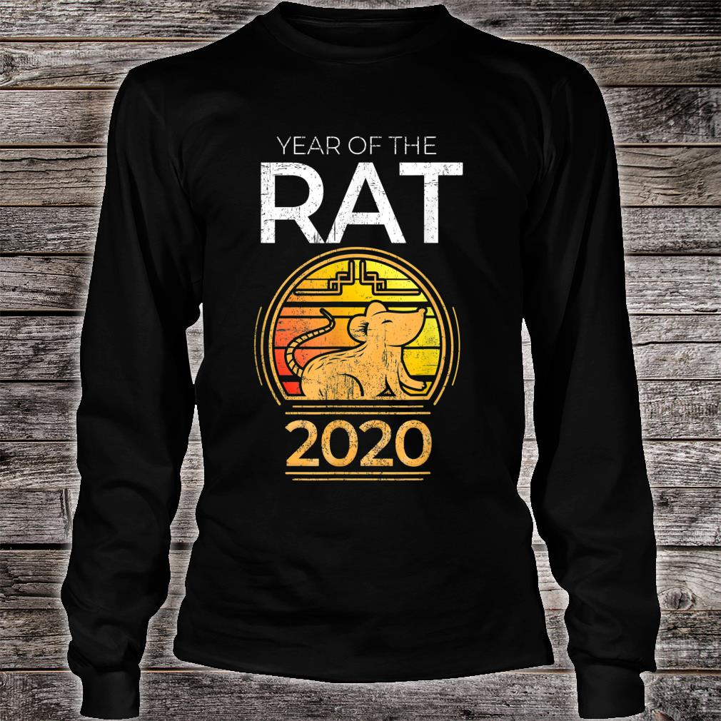Year Of The Rat 2020 Chinese New Year Zodiac Symbol Shirt Long sleeved