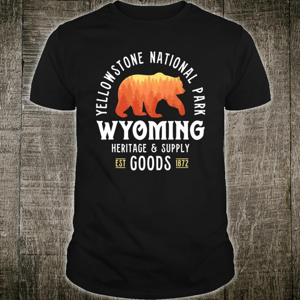 Yellowstone National Park Bear Shirt Wyoming Shirt