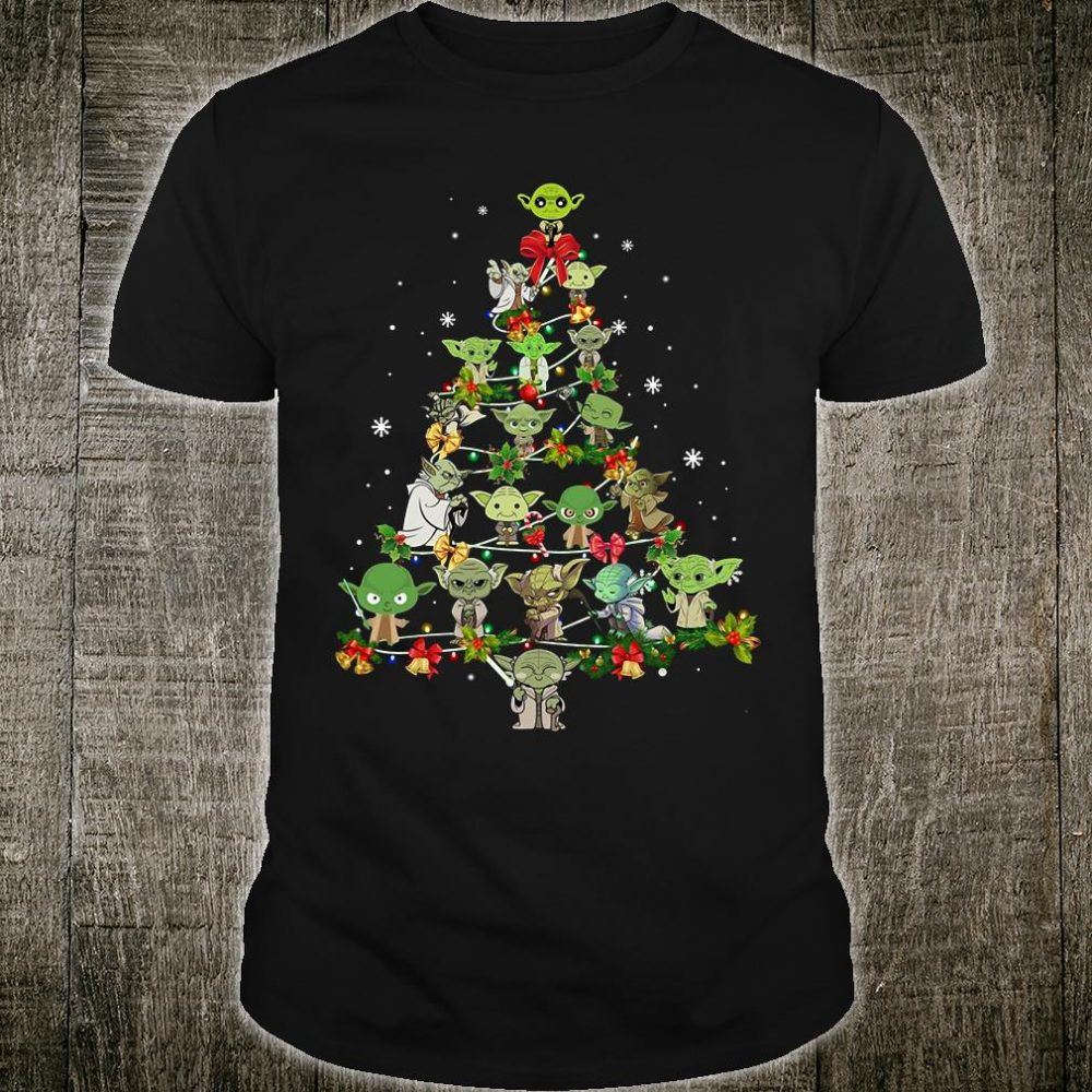 Yodas christmas tree shirt