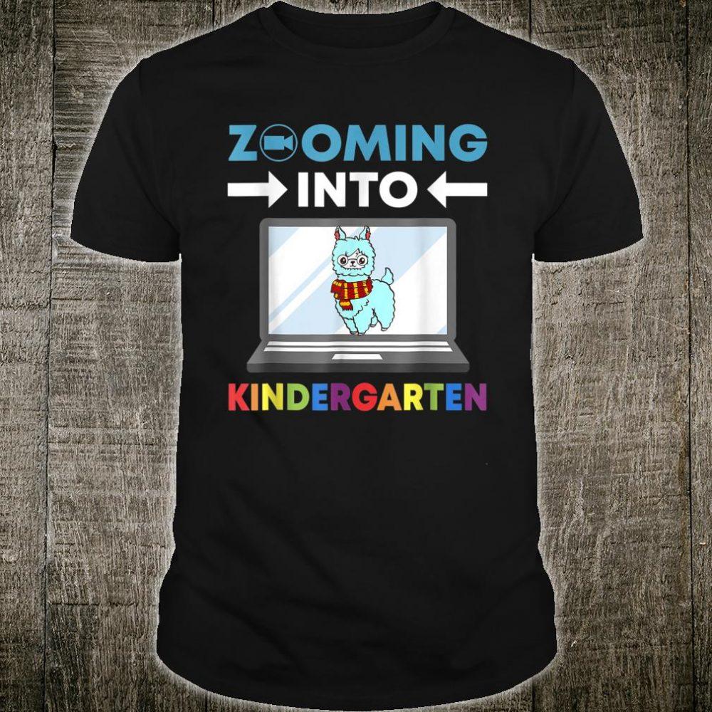 Zooming Into Kindergarten Virtual Back to School 2020 Llama Shirt