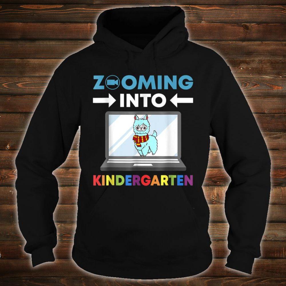 Zooming Into Kindergarten Virtual Back to School 2020 Llama Shirt hoodie