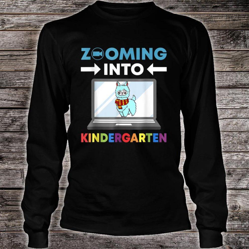 Zooming Into Kindergarten Virtual Back to School 2020 Llama Shirt long sleeved
