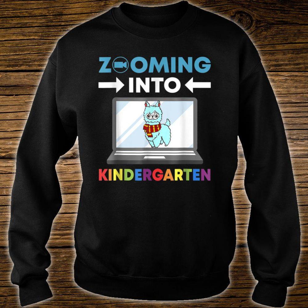 Zooming Into Kindergarten Virtual Back to School 2020 Llama Shirt sweater